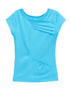 Love In Color Pleated Top - Turquoise