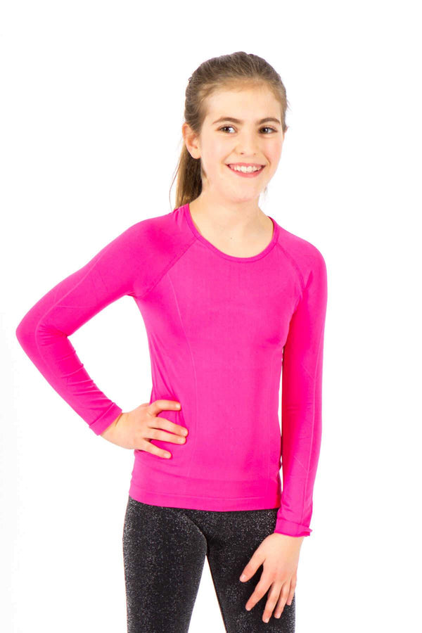 Seamless Long Sleeve Top - Fuchsia