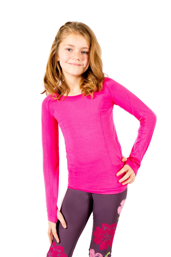 Seamless Long Sleeve 2 Pack - Fuchsia and Black