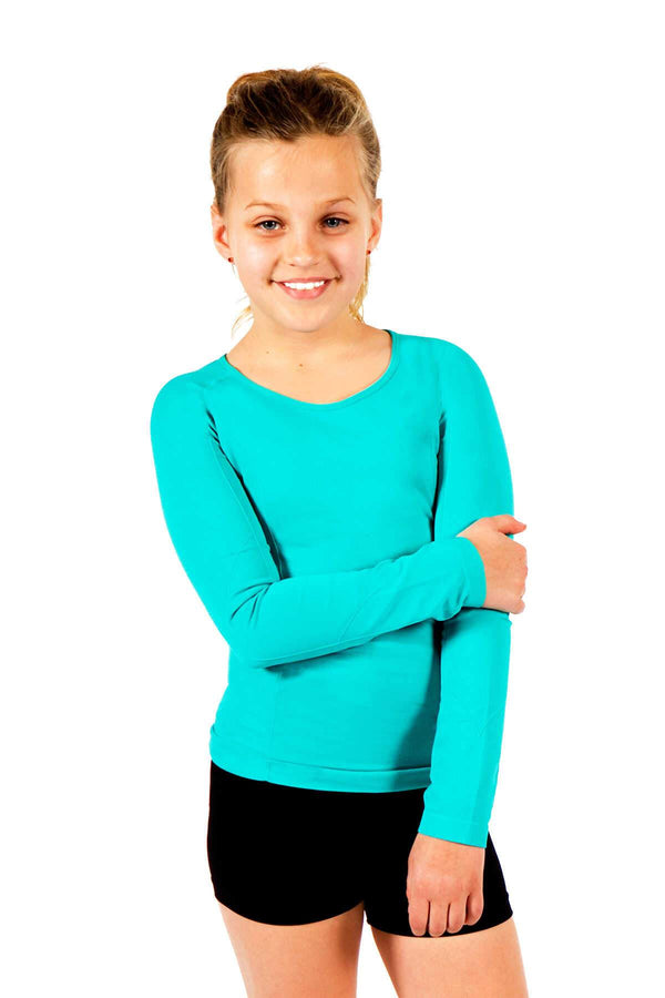 Seamless Long Sleeve Top - Teal