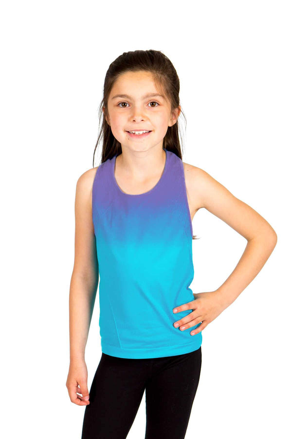 Seamless Racerback Tank - Periwinkle Turquoise