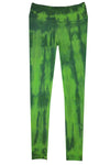 Boutique Leggings - Lime Navy TIE DYE