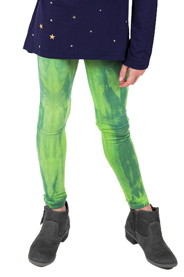 Boutique Leggings 2 Pack - Lime Navy Tie Dye and Dark Grey