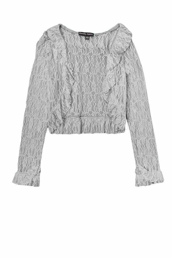 Lace Cardigan - Grey