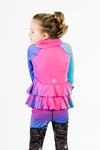 Detail Ruffle Jacket - Multicolor