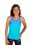 Dual Crossback Tank - Turquoise