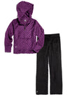 Bubble Hoodie + Pant Set - Dark Purple and Black