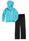 Bubble Hoodie + Pant Set - Turquoise and Black
