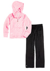 Bubble Hoodie + Pant Set - Light Pink and Black