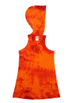 Swim Cover Up - Orange Fuchsia Tie Dye