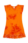 Swim Cover Up - Orange Tie Dye