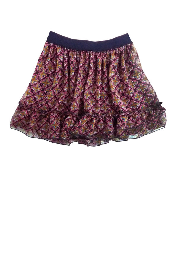Ruffle Skirt - Red Print