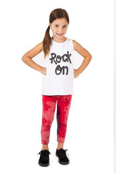 Capri Tie Dye Leggings - Red