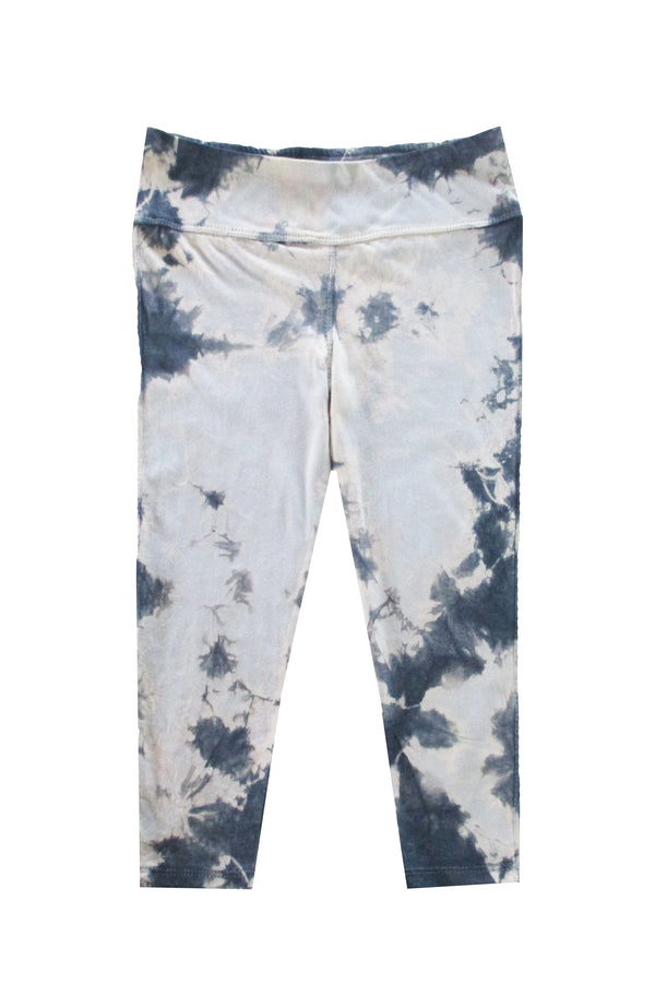 Capri Tie Dye Leggings - Dark Grey