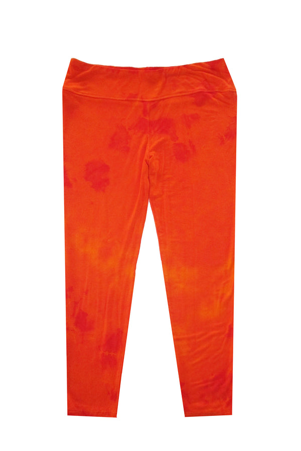 Capri Tie Dye Leggings - Orange