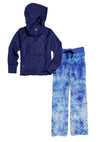 Bubble Hoodie + Pant Set - Navy and Frozen Tie Dye