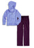 Bubble Hoodie + Pant Set - Periwinkle and Dark Purple
