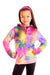 Kids Soft Minky Bubble Hoodie - Rainbow Tie Dye by Limeapple
