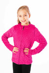 Girls Minky Bubble Hoodie - Fuchsia by Limeapple
