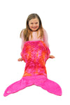 Minky Mermaid Sleeping Bag - Pink Orange Tie Dye