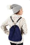 Navy Back Pack by Limeapple