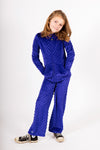 Minky Bubble Pant's 2 Pack - Cobalt and Black