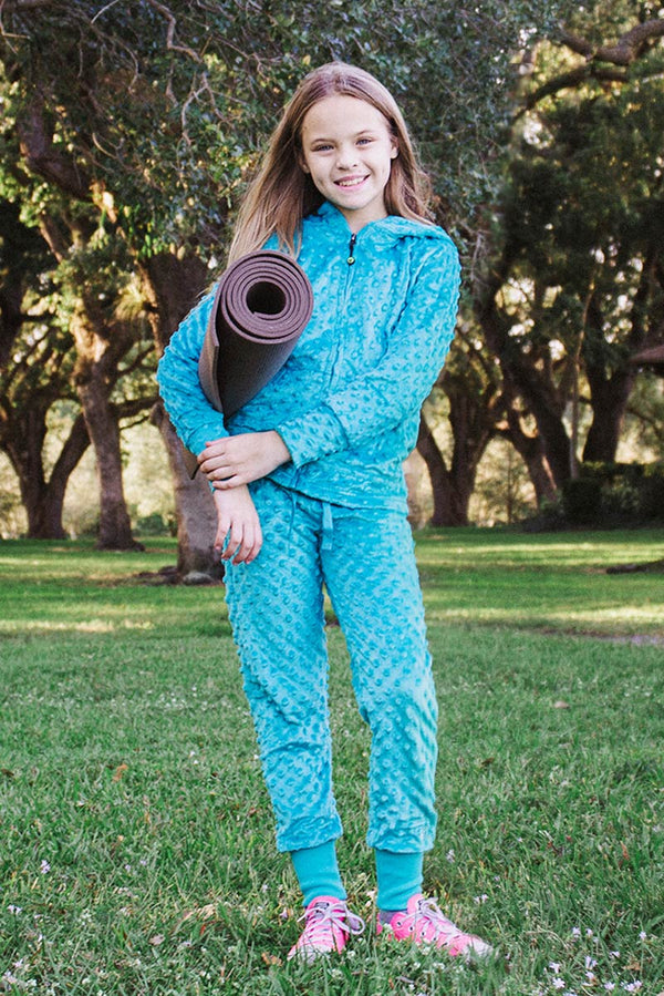 Bubble Hoodie + Jogger Set - Turquoise