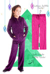 Limeapple Luxe Minky Bubble Pant's 2 Pack - Dark Purple and Fuchsia