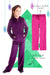 Minky Bubble Pant's 2 Pack - Dark Purple and Fuchsia