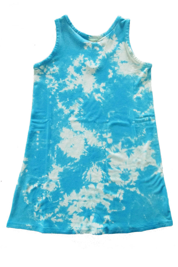 Gemma Dress - Blue Tie Dye