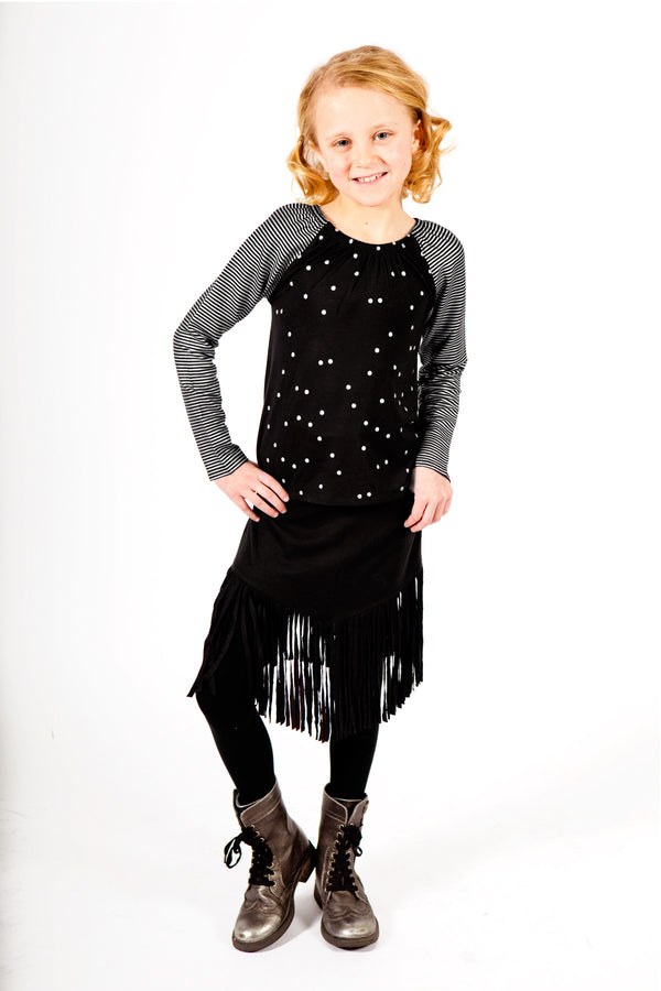 Georgie Top + Fringe Skirt