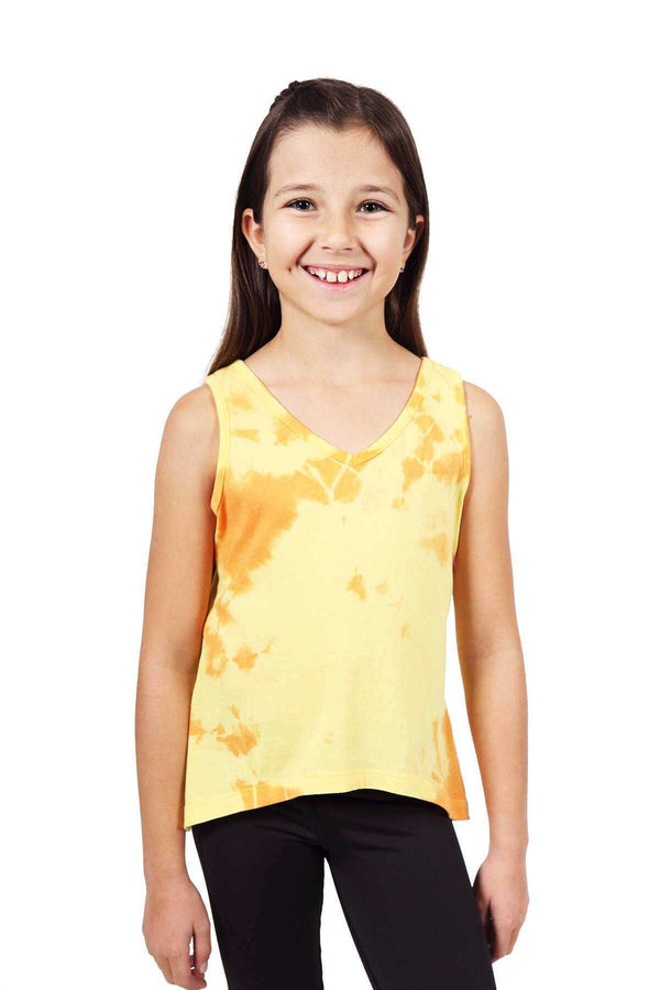 Gwyn Tie Dye Top - Yellow