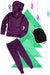 Bubble Hoodie , Jogger and Backpack Set - Dark Purple