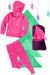 Bubble Hoodie , Jogger and Blanket Set - Fuchsia