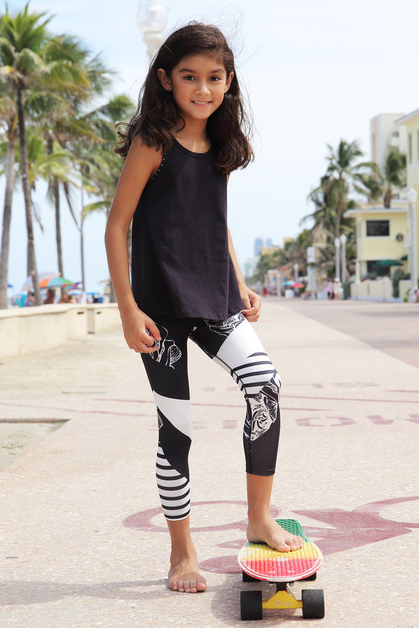 Layne Printed Capri Leggings
