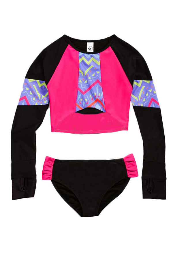 Muiel Cropped Rashguard Set