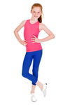 Seamless Capri Leggings - Blue
