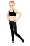 Seamless Full Length Leggings - Black Glitter