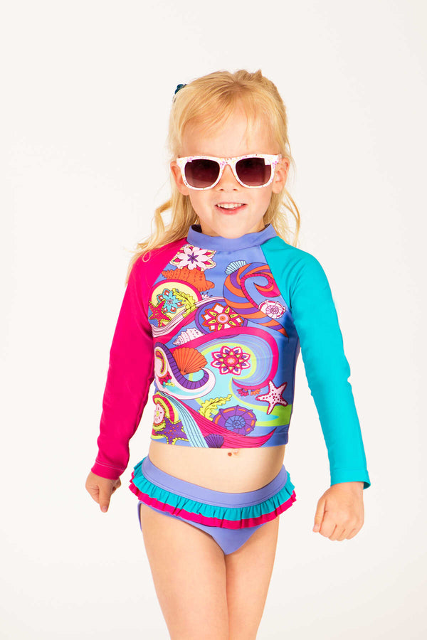 Trixie Toddler Printed Rash Guard Set