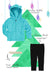 Baby Minky Dot Bubble Hoodie Legging Set - Turquoise