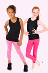 Seamless Capri Legging 2 Pack - Fuchsia and Fuchsia Melange
