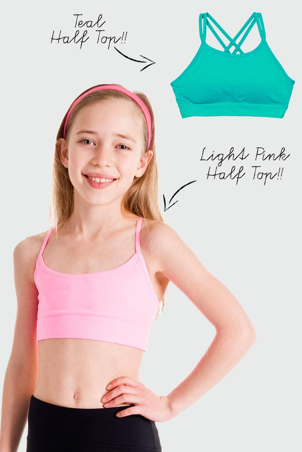 Seamless 2 Pack - Light Pink and Teal Half Top