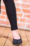 Black Leggings - Lace Detail