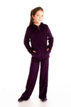 Girls Minky Bubble Pant - Dark Purple by Limeapple