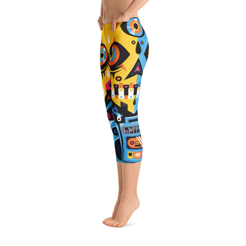 iLL.Gates Galactica All-Over Capri Leggings