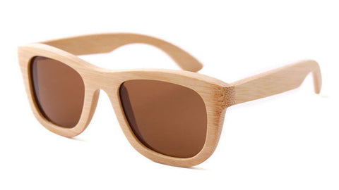 Square Bamboo Vintage Wood Sunglasses