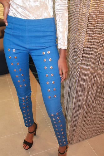 Blue Cutlet Trousers