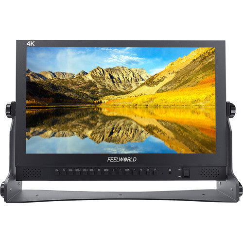 "Feelworld 17.3"" IPS Panel 4K(3840×2160) Broadcast Director Monitor W/ Quad Split Display"