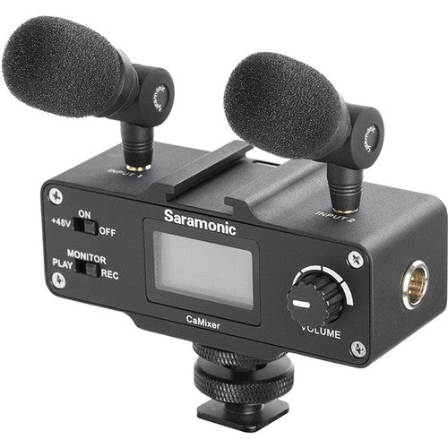 Saramonic Versitile Audio Bundle with Lavalier Microphone, Dual Stereo Condenser Mics, Digital Mixer & XLR/Mini-XLR Input with +48V Phantom Power Preamp - For DSLR Cameras and Camcorders