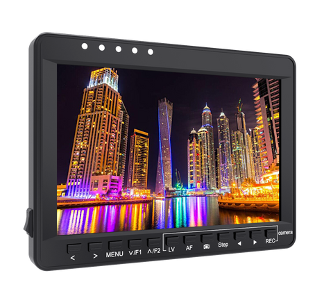 Feelworld 7'' Aluminum Design Ultra Slim HD IPS 1280x800 4k Canon Camera Control Focus Monitor